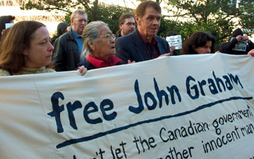 Outside the courthouse, Vancouver, Feb. 21, 2005, Photo: Joni Miller